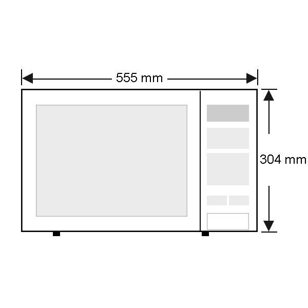 Panasonic Microwave NNSE792S - Front Dimension