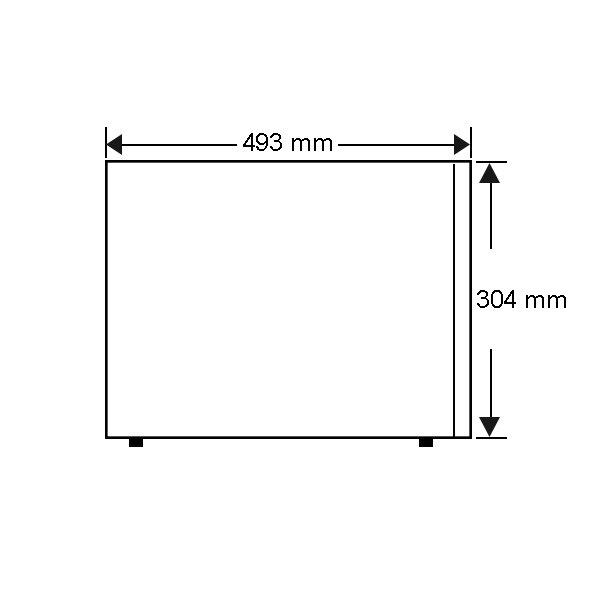 Panasonic Microwave NNSE792S - Side Dimension
