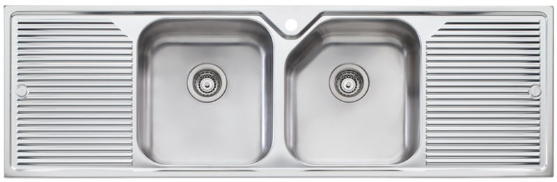 Oliveri NP653 Nu-Petite Double Bowl With Double Drainer Topmount ...