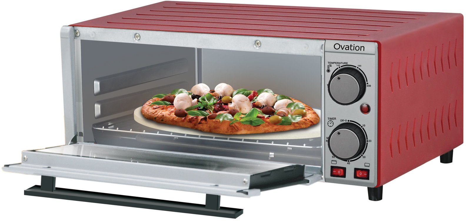 toaster oven pizza steel stainless p hamilton beach ovens