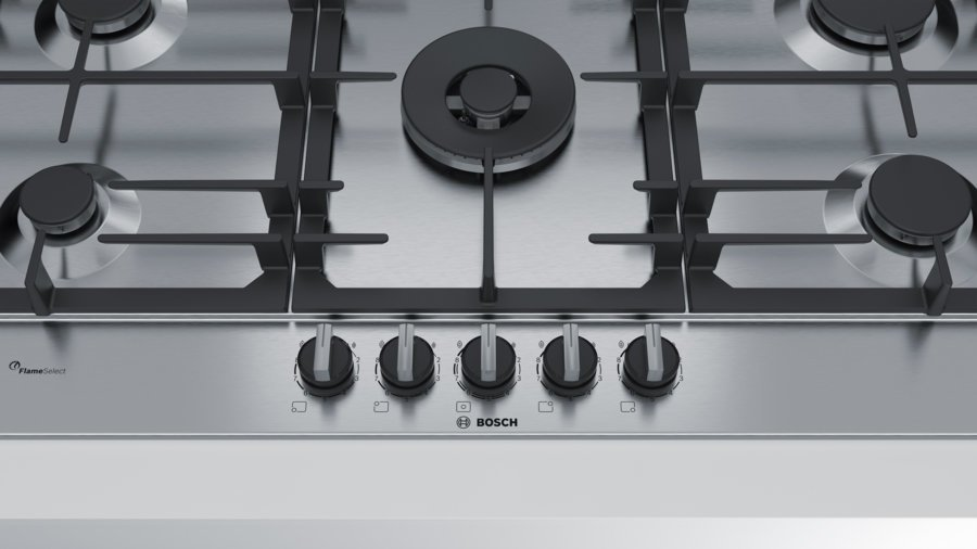 bosch pcr9a5b90a 90cm serie 6 natural gas cooktop product video