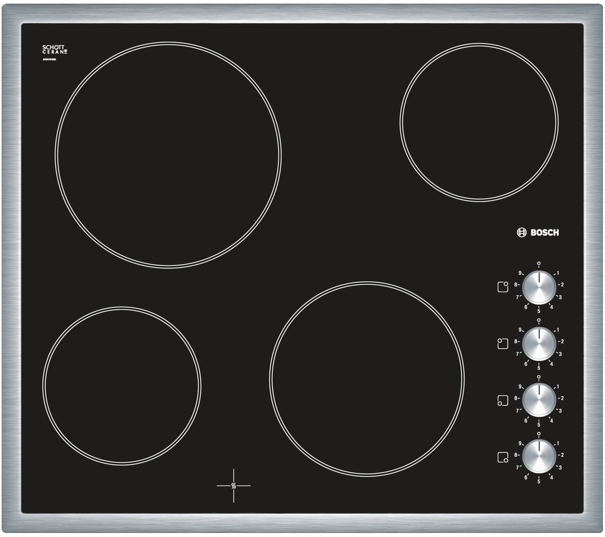 Bosch PKE645C17A 60cm Serie 2 Ceramic Electric Cooktop | Appliances Online