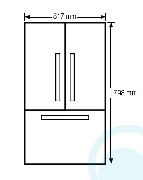 Samsung 583l French Door Refrigerator Srf583dls