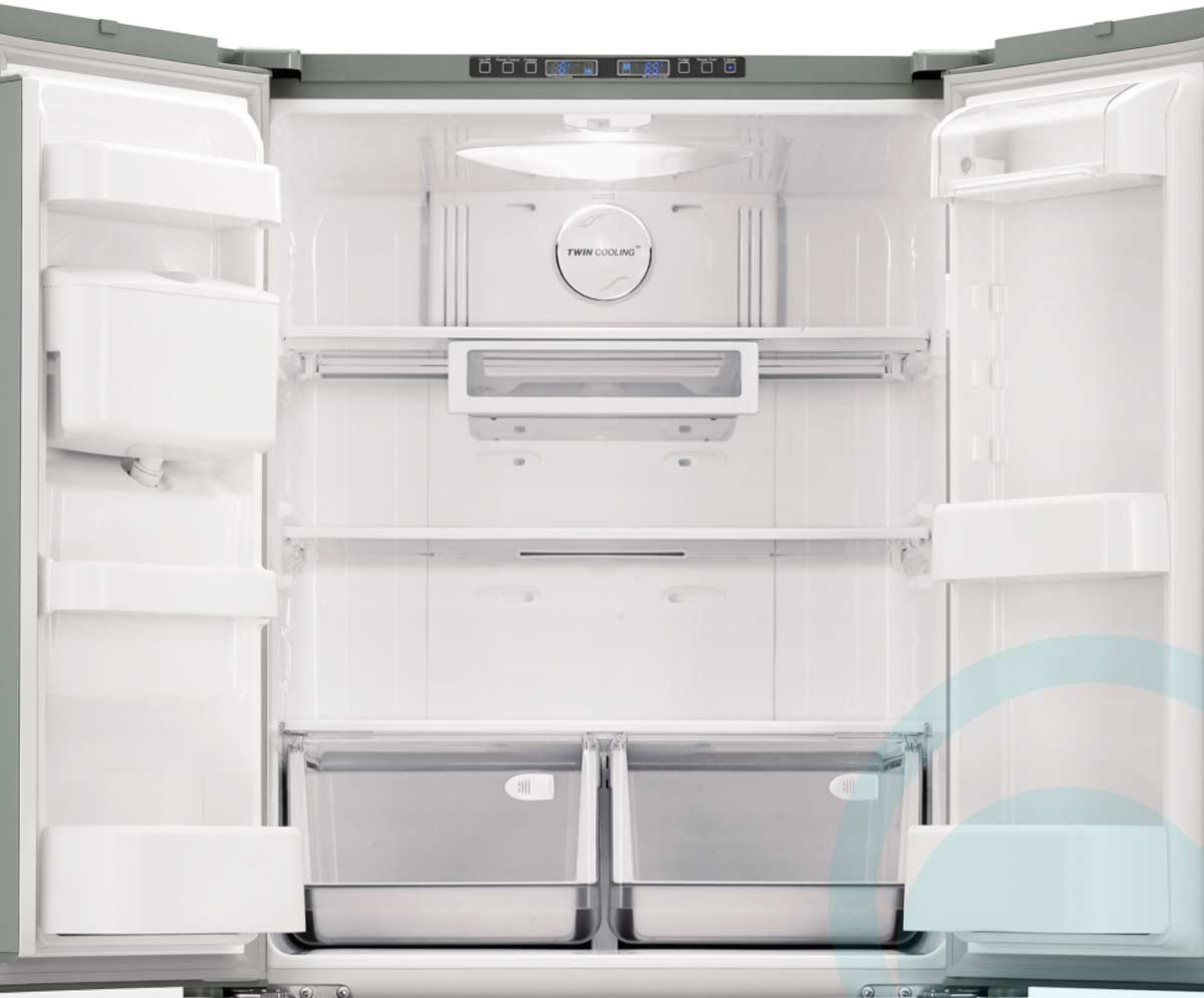 how to clean the inside of a samsung fridge