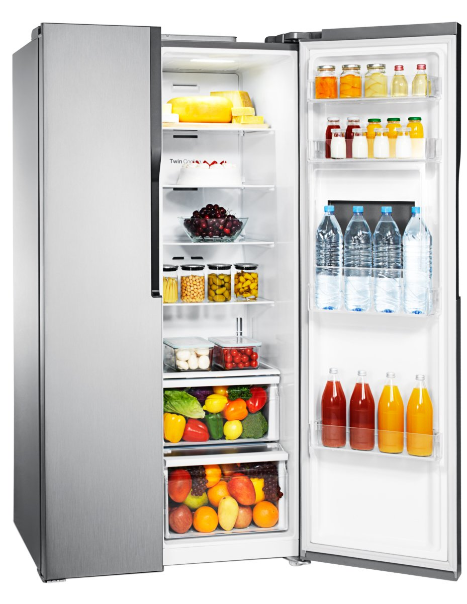 new samsung srs603hls 603l side by side fridge ebay. Black Bedroom Furniture Sets. Home Design Ideas