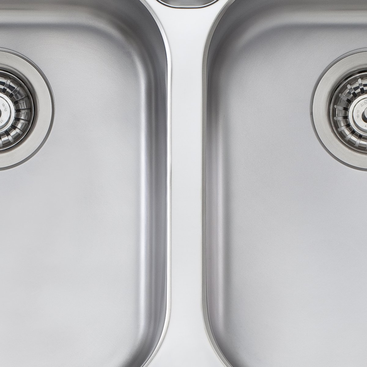 Stainless Steel. Oliveri WA163PACK Diaz Double Bowl Sink Pack