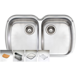 Oliveri WA70UMAPACK Monet Double Bowl Undermount Sink Pack