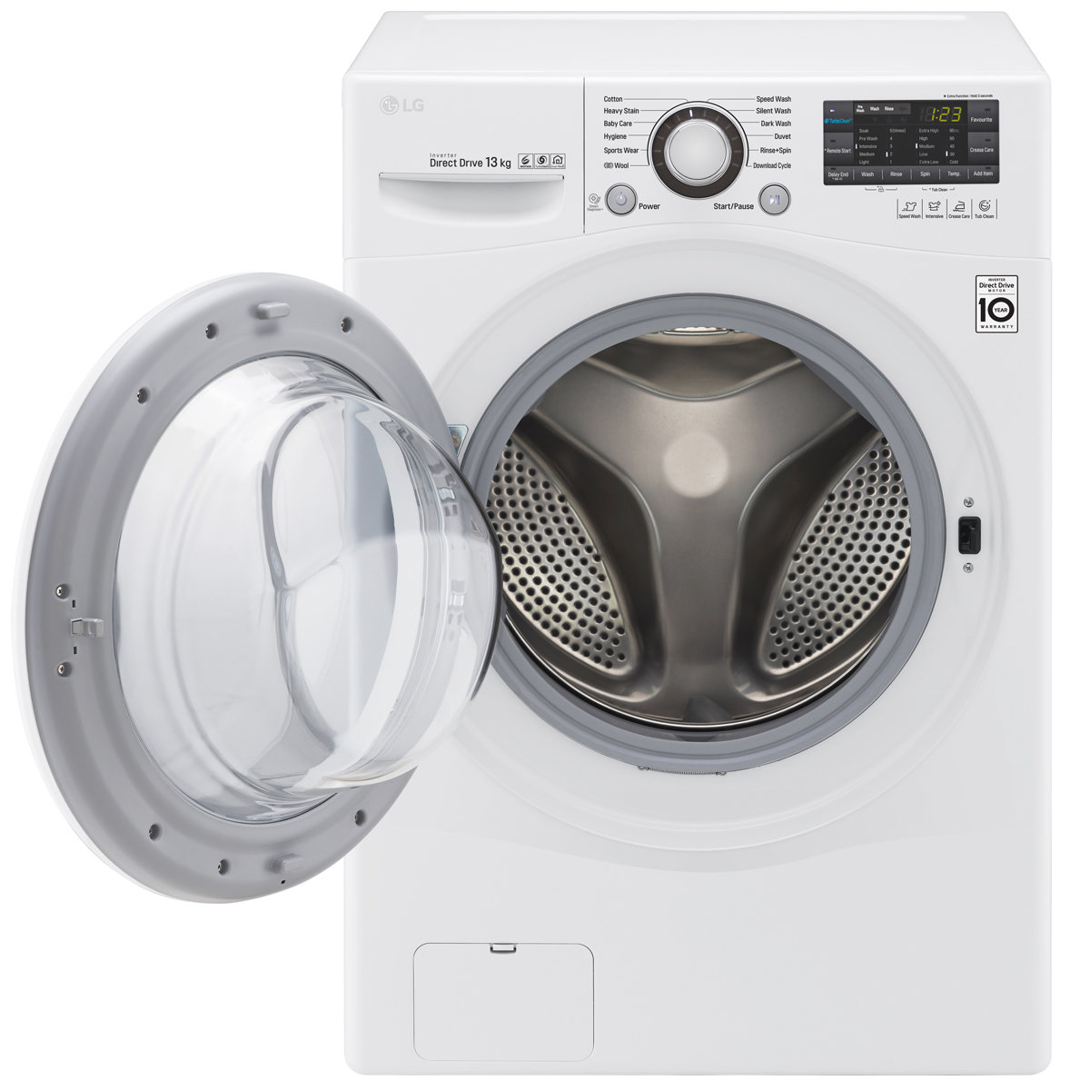d9222feec837d LG WD1013NDW 13kg Front Load Washing Machine with Turbo Clean ...