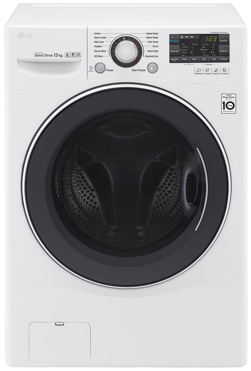 LG 13kg Front Load Washing Machine with Turbo Clean WD1013NDW