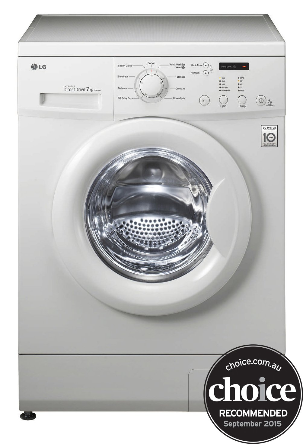 lg wd1200d 7kg front load washing machine reviews appliances online. Black Bedroom Furniture Sets. Home Design Ideas