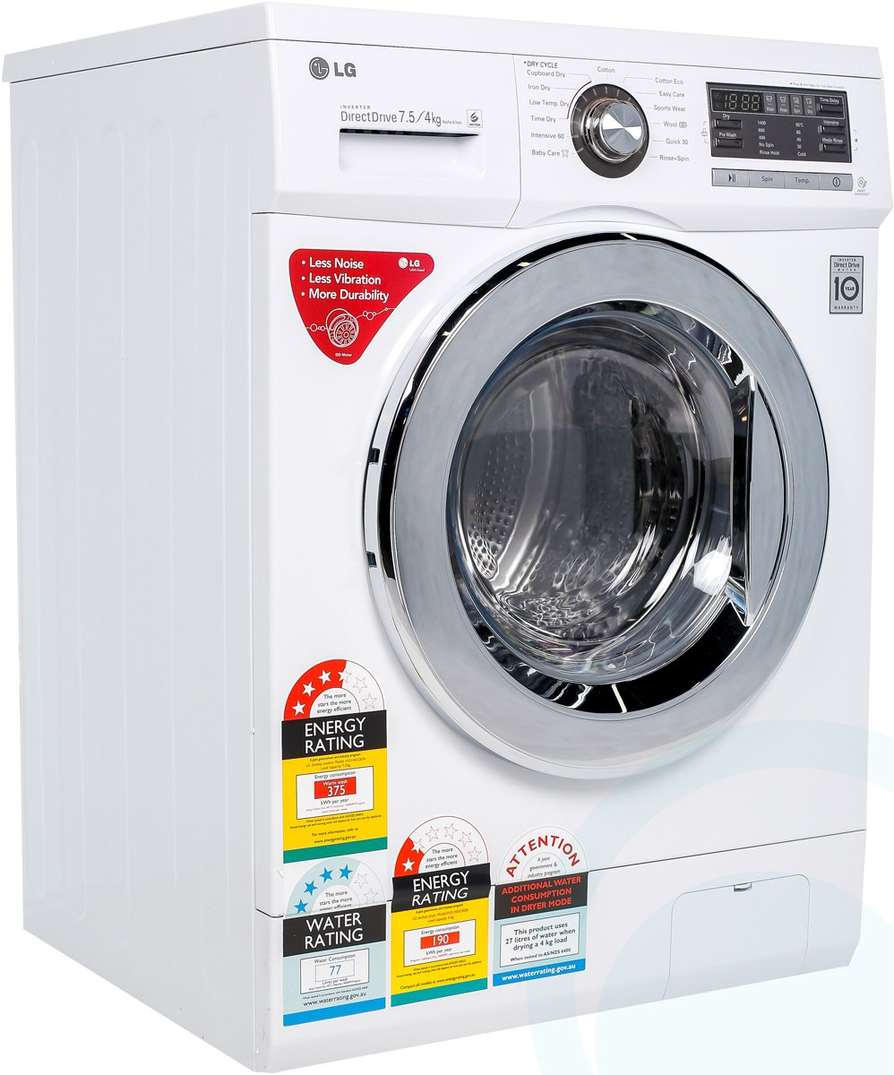 product video product video lg wd1402crd6 75kg washer 4kg dryer combo