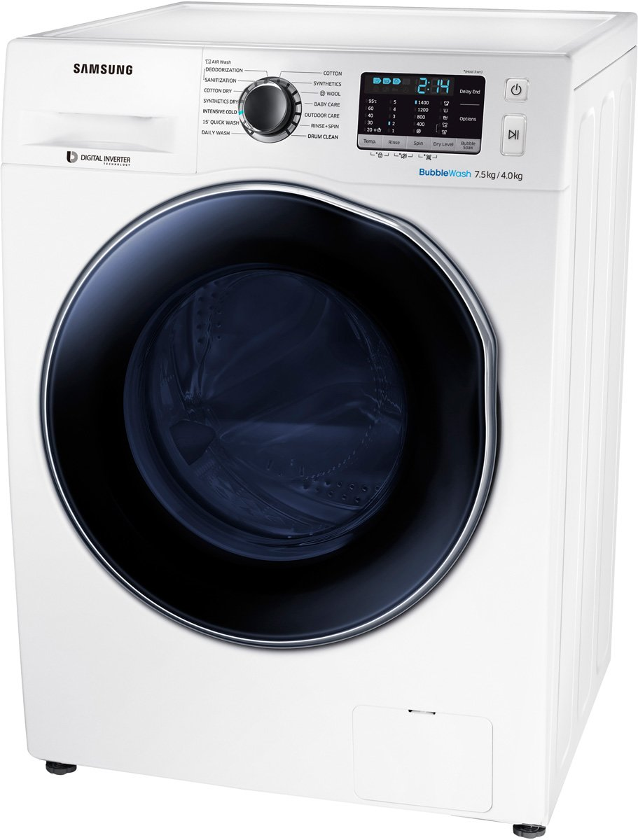 Washing Drying Machine Samsung Wd75j5410aw 75kg Washer 4kg Dryer Combo Appliances Online