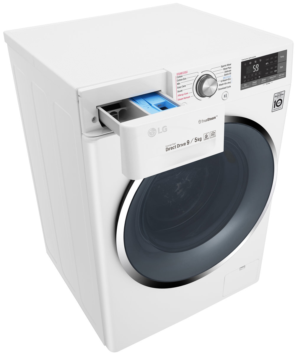 LG WDC1409HCW 9kg/5kg Washer Dryer Combo with True Steam