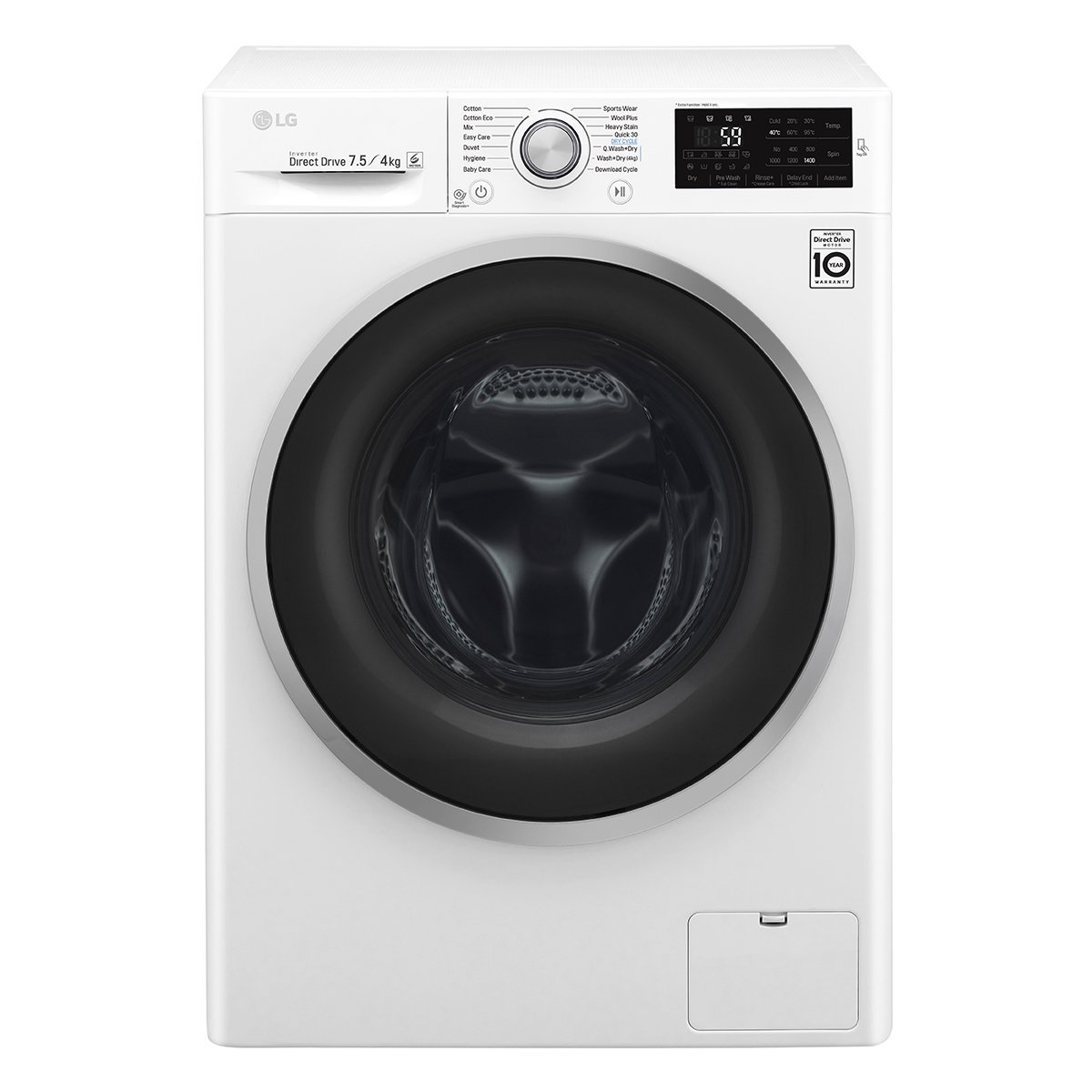 lg washer and dryer. lg wdc1475ncw 7.5kg front load washing machine 4kg dryer combo | appliances online lg washer and .