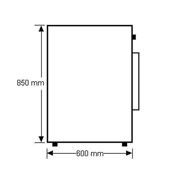 10kg Front Load Samsung Washing Machine WF1104XAC - Side Dimension