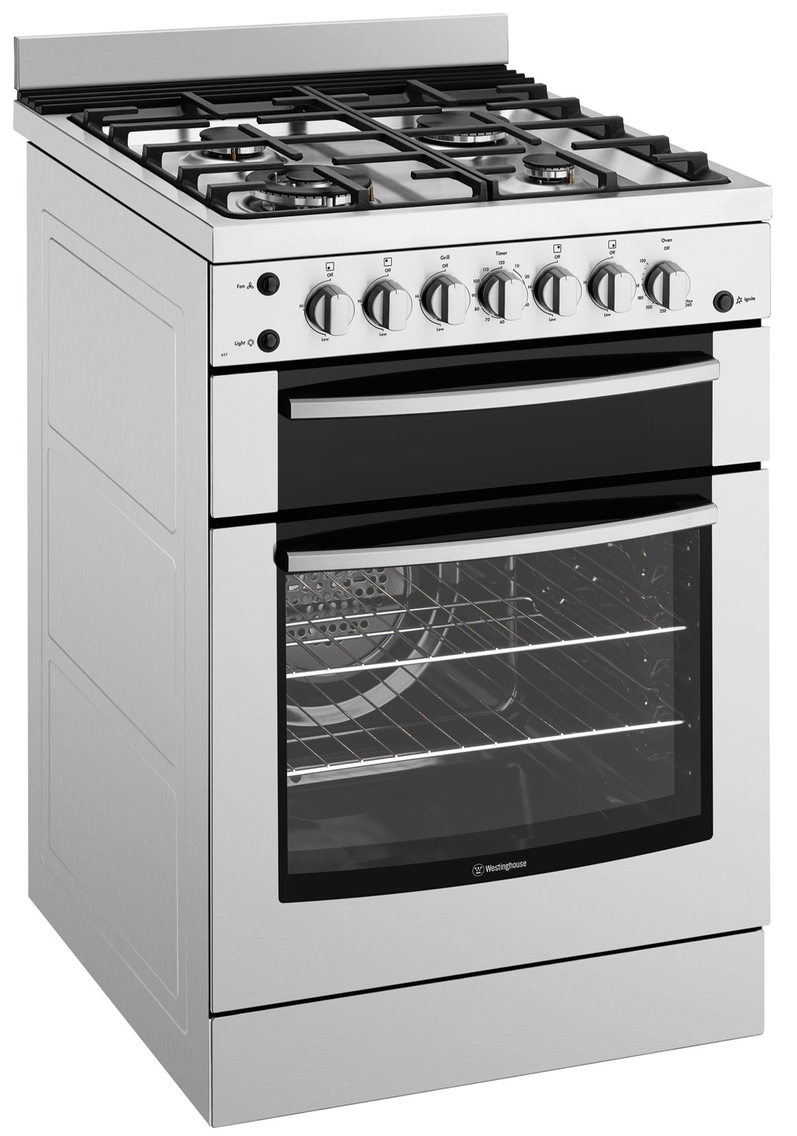 Westinghouse WFG617SA 60cm Freestanding Natural Gas Oven/Stove | Appliances  Online