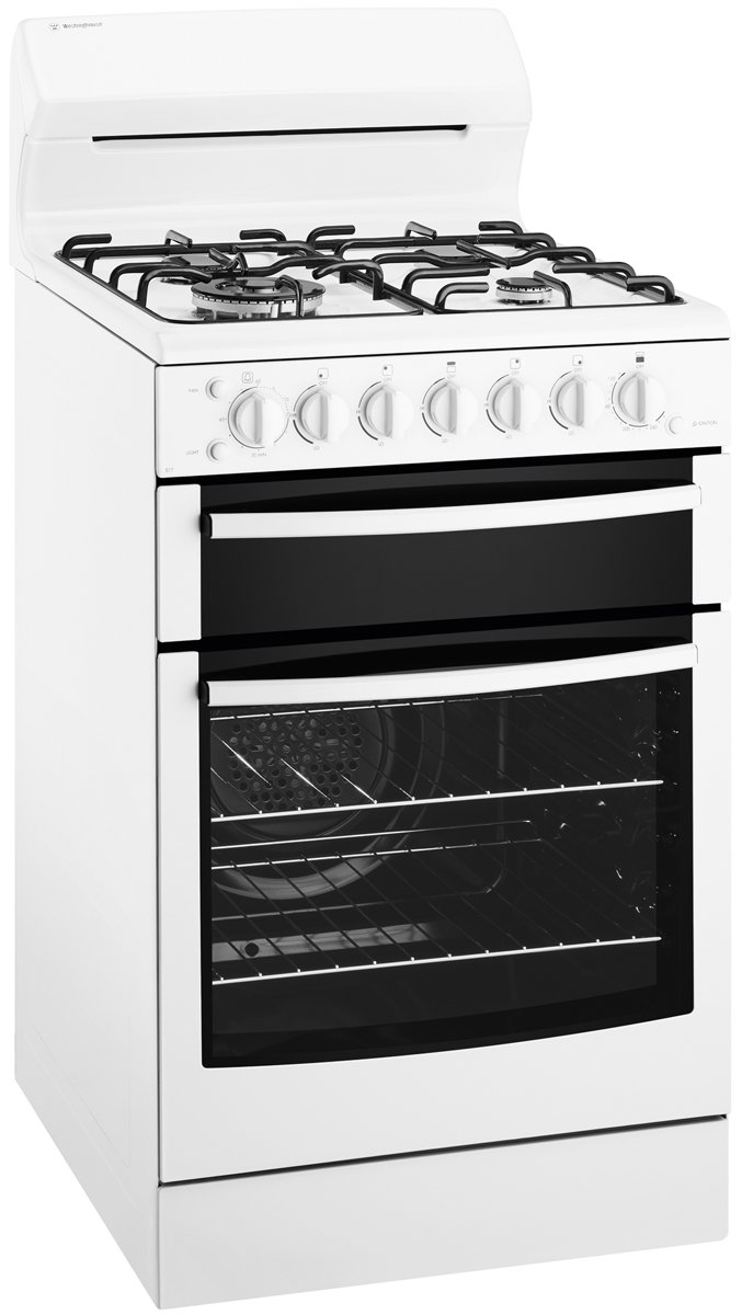 Westinghouse WLG517WA 54cm Freestanding Natural Gas Oven/Stove