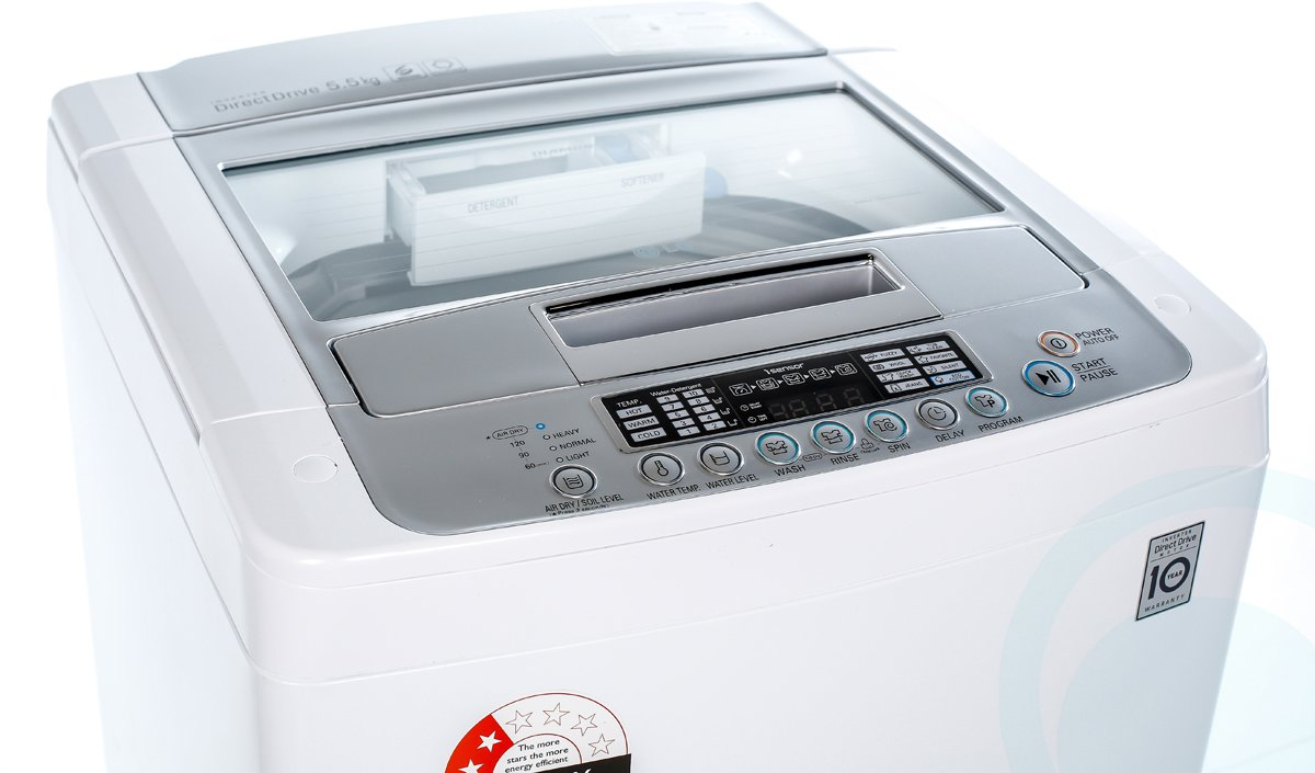 lg wth550 55kg top load washing machine product video