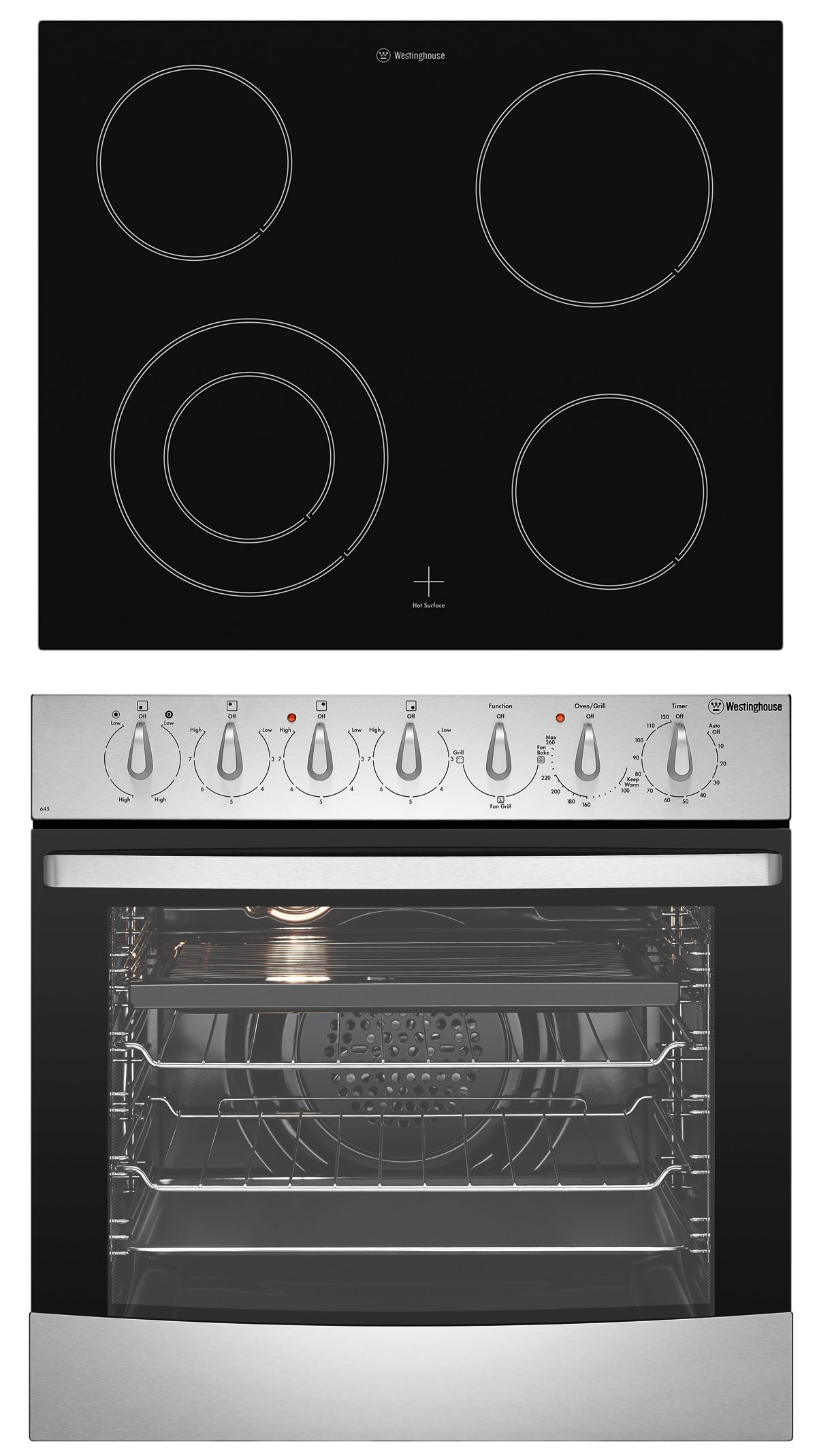 Westinghouse Wve645s 60cm Electric Oven And Cooktop Pack Cook Top Light Fan Wiring Diagram Appliances Online