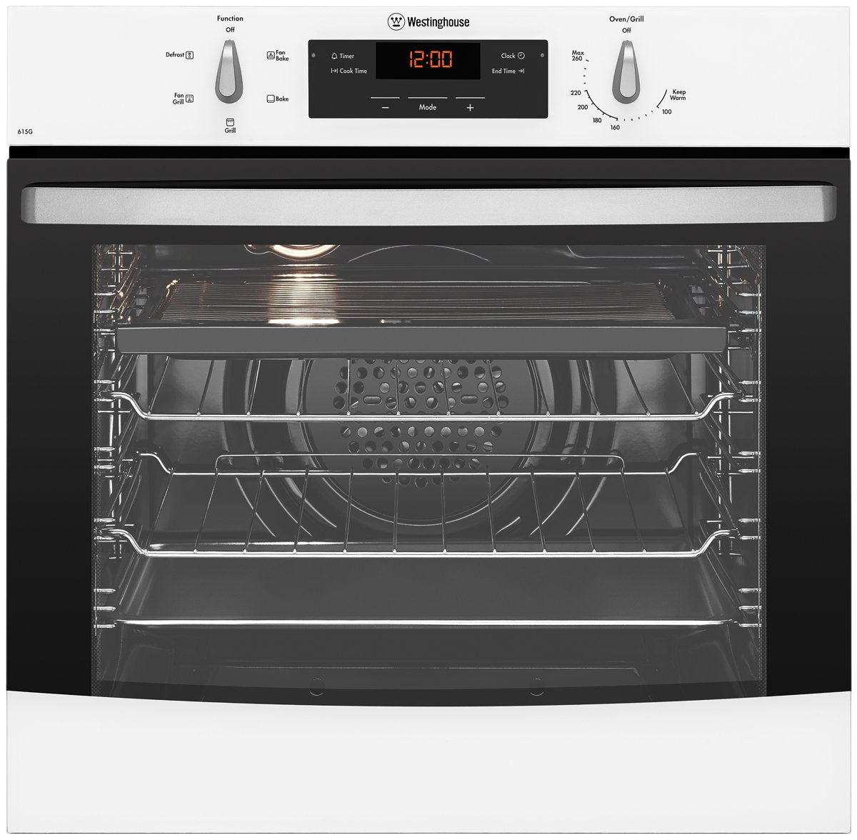 Built In Gas Ovens Part - 41: Westinghouse WVG615W 60cm Natural Gas Built-In Oven   Appliances Online
