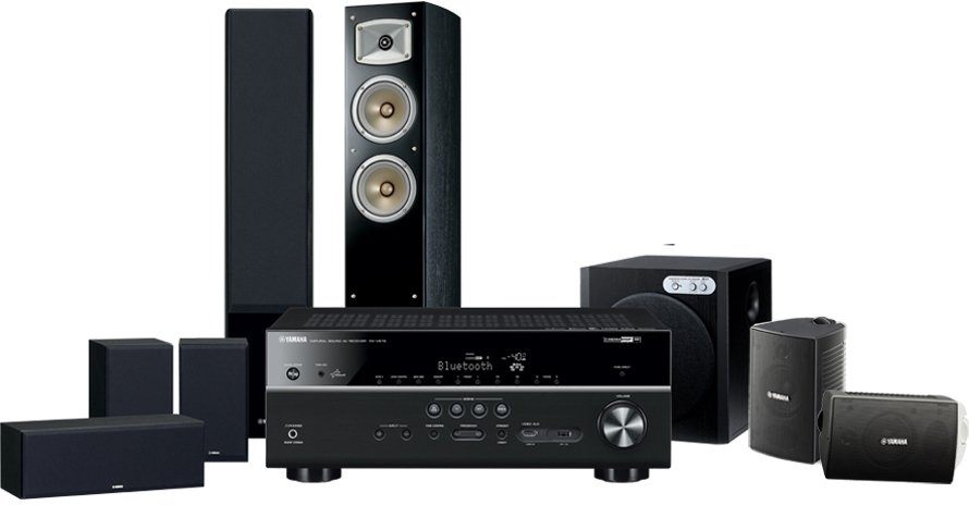 Yamaha yht 8920aub 7 2ch home theatre system with wifi for Yamaha 7 2 home theatre system