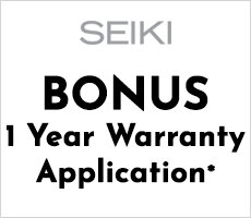 Bonus 1 Year Warranty with Seiki